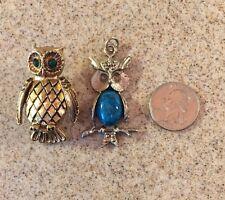 Pendant Owl - #8140-1 Jewelry Owls Brooch Pin