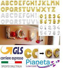 Palloncini gonfiabili oro argento Lettera alfabeto Matrimonio numero Compleanno
