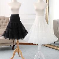 Kid Adult 50s vintage Crinoline Petticoat Hoopless Retro Swing Lolita Underskirt