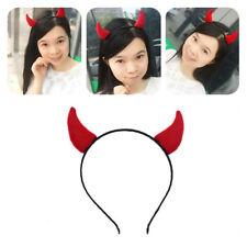 1x Devil Horns Red Halloween Horror Evil Headband Lovely Headwear for Women Girl
