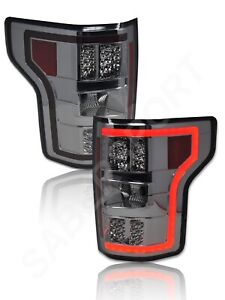 Set of Pair Eagle Eyes Smoke LED Taillights for 2018-2019 Ford F-150 XL / XLT