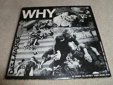 DISCHARGE-Why VINYL LP UK ORIGINAL 1St PRESSING Oi PUNK
