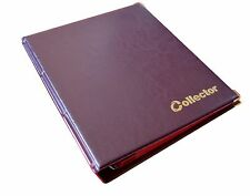Brown Coin Album 221 Coins Mix Sizes Book Folder Big Capacity for Extra Pages /C