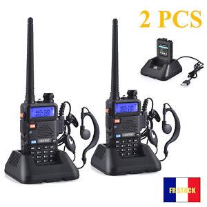 2pcs UV-5R VHF/UHF FM Émetteur-Récepteur radio bidirectionnelle Talkie