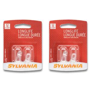 Sylvania Long Life - Two 2 Packs - 168LL Light Bulb Side Marker Tail License gj
