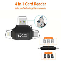 OTG Type-C USB LOT Micro SD TF Memory Card Reader OTG Adapter for Macbook Phone