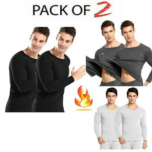 Men's Thermal T Shirt Top - 2Pack Heated Body Warmer Long Sleeve Warm Base Layer