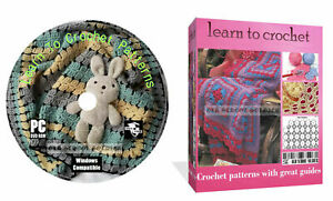 Learn How To Crochet Stitch & Knit 830 + patterns with great guides on CD Disk