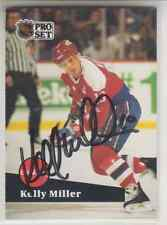 Autographed 91/92 Pro Set Kelly Miller - Capitals