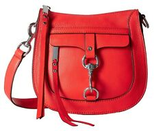 NEW ORG. $245 REBECCA MINKOFF LEATHER DRAGON FRUIT DOG CLIP SADDLE BAG CROSSBODY