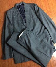 Vintage J. Press Gray Blue Glen Plaid 2Pc Suit 3/2 Roll 38R 35x30