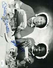 Mickey Mantle Willie Mays Rare Blue Bonnet Jsa Coa Autograph 8x10 Photo Signed