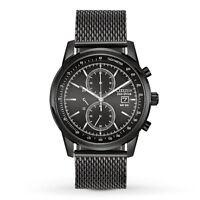 Citizen Eco-Drive Men's CA0338-57E Chronograph Black Mesh Band Watch