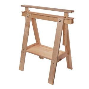 Tischbock höhenverstellbar Holzbock Kiefer Holzgestell Holzböcke Böcke Klappbock