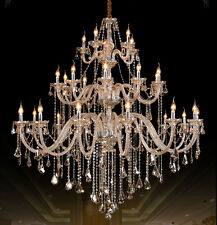 large 30 arms/bulbs modern Cognac crystal chandelier Ceiling light Pendant Lamp