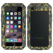 Waterproof Aluminum Metal Case Cover Tempered Glass for iPhone 5 6 7 8 Plus X for iPhone SE Camo Yes