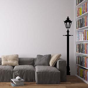 Victorian Single Lamppost Vinyl Wall Art Decal for Home Decor / Interior Desi...