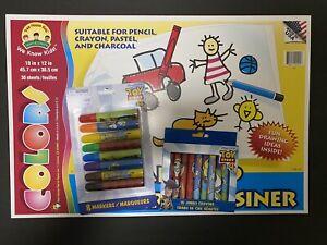 Disney Pixar Toy Story Crayons & Markers Tree House Kids Jumbo 30 Sheets Art Pad