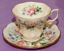 Royal Albert English Bone China Teacup & Saucer Duo SURREY Random Harvest Series