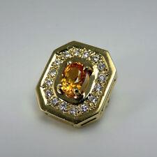 Pendant Sapphire Yellow Gold 14k Vintage & Antique Jewellery