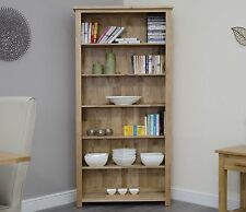 Arden solid contemporary oak furniture large office living room bookcase