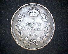 1917 CANADA 5 CENTS KM#22 -92.5% SILVER #12785