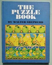 THE PUZZLE BOOK FIRST FIFTY 50 WALTER SHEPHERD VINTAGE 1970s BOOK ART GRAPHIC