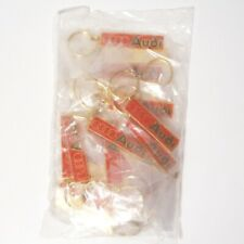 WHOLESALE LOT of 25 Vintage 1975 AUDI Brass Keychains INDIVIDUALLY WRAPPED NOS