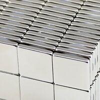 "Lot 10 25 50 Super Block Magnets 1""x1""x1/8"" inch Rare Earth Neodymium N50"