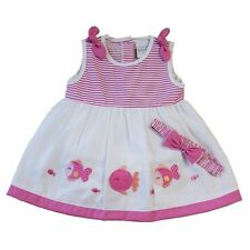 Cotton Blend Casual Floral Dresses (0-24 Months) for Girls