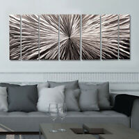 Statements2000 Silver Modern 3D Metal Wall Art Panels Abstract Decor Jon Allen