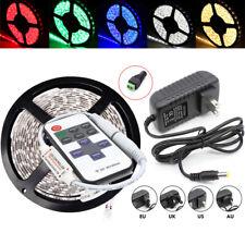 5M 2835 SMD 300 LED Light Strip & Remote Controller + Power Supply US/EU/UK/AU