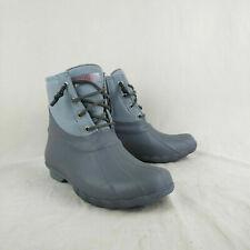 Sperry Top Sider Saltwater Waterproof Gray Duck Rain Boots Women's Size 6.5 US