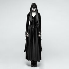 Punk Rave Gothic Witch Vampire Medieval Druid Cosplay Velvet Hooded Dress Coat