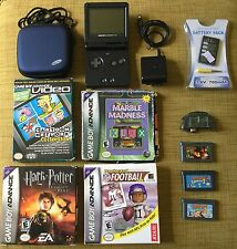 Nintendo Game Boy Advance SP AGS-101 Brighter Backlit Screen W/ Charger & Games