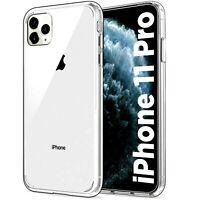 Cover per IPHONE 11 PRO Custodia TRASPARENTE Slim Silicone TPU + VETRO TEMPERATO
