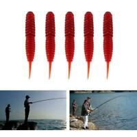 10Pcs Plastic Soft Fishing Lures Grubs Worms Baits S6M6 Trout 6cm Bream X0O5