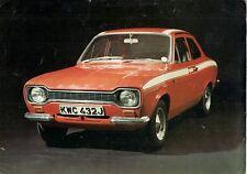 Ford Escort Mk1 Mexico 1970-71 UK Market Launch Leaflet Sales Brochure