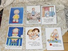 6 Repro Vintage Valentines Day Postcards..Made in Gr. Britain...LOOK