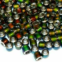MCX131 Color Changing Thermo Sensitive Sparkle Mood Beads 6mm Barrel 50pc