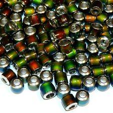MCXL131L Color Changing Thermo Sensitive Sparkle Mood Beads 6mm Barrel 50/pkg