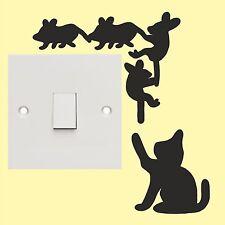 Cat & Mouse ADESIVI interruttore della luce-Wall Art Decalcomania Adesivi Di Qualità Nuovo