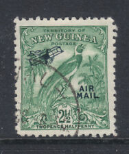NEW GUINEA: B of P  2 1/2d  UN DATED  AIR MAIL OV/PR  VFU   SG193a