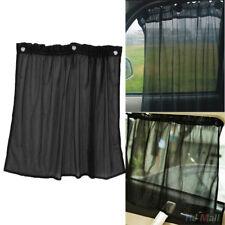 Pair Auto Car Protection Window Curtain Sun Shade Block Suction Cup Black