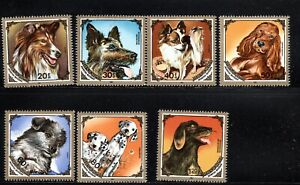 Mongolia SC1412-1418Dogs:Collie-GermanShepherd-Spaniel-Dalmations etc. MNH 1984