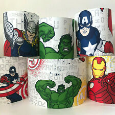 Avengers Fabric Ceiling Light Shade or Table Lampshade matches Avengers Bedding