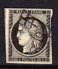 FRANCE - Classique - Cérès N° 3 a - Noir sur blanc - Oblitération losange - TBE