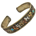 Antique Nepali Mantra Bracelet - Tibetan Buddhist Jewelry Old Asian Artwork A