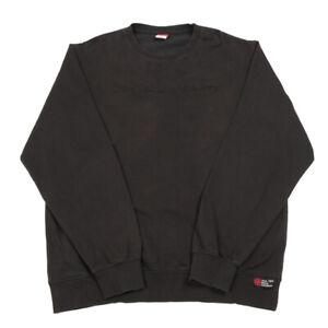 Black Embroidered Sweatshirt   XL   Jumper Retro Sweater Pullover Vintage
