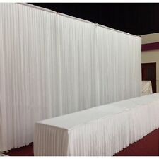 Pure White Wedding props event stage decorations backdrop curtains  3 fold